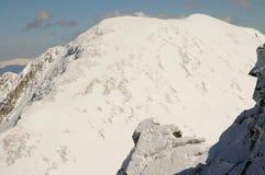 Winter landscape in Retezat mountain, Romania Stock Photos