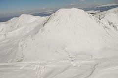 Winter landscape in Retezat mountain, Romania Stock Image