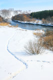 Winter landscape with river Royalty Free Stock Photography