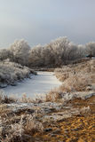 Winter landscape with river Stock Image