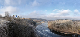 Winter landscape with the river Stock Image