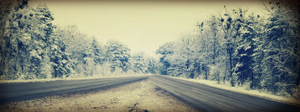Winter landscape road Stock Photography