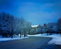 Winter landscape with road Royalty Free Stock Image