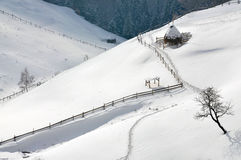 Winter Landscape in Romania Stock Photo