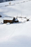 Winter Landscape in Romania Royalty Free Stock Photo