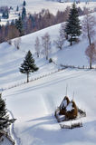 Winter Landscape in Romania Stock Photos