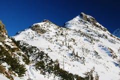 Winter landscape in Romania stock image