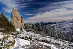 Winter landscape in Romania, Carpathian mountains Royalty Free Stock Photos