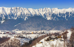 Winter landscape in Romania mountains Stock Photography
