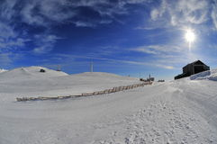 Winter landscape in the romanian mountains Royalty Free Stock Photography