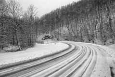 Winter landscape in the rural mountain Royalty Free Stock Images