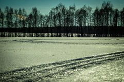 Winter landscape in Russia (Kaluga region). Royalty Free Stock Photography