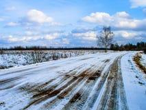 Winter landscape in Russia (Kaluga region). Stock Photos
