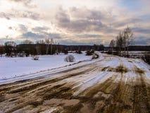 Winter landscape in Russia (Kaluga region). Stock Photo