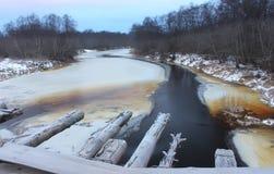 Winter landscape, Russia Stock Image