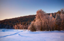 Winter landscape, Russia Stock Photos