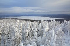 Winter landscape. Russia royalty free stock photo