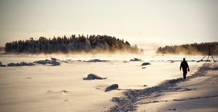 Winter landscape, Russia Stock Photos