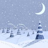 Winter landscape scene Royalty Free Stock Image