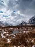 Winter landscape in the Scottisch Highlands Royalty Free Stock Images