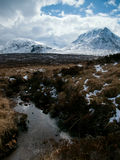 Winter landscape in the Scottish Highlands Royalty Free Stock Photos