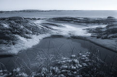 Winter landscape by the sea Stock Image