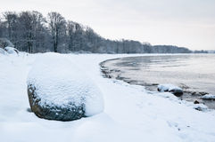 Winter landscape of the Sea Stock Images