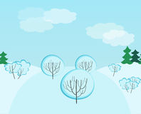 Winter landscape seamless pattern Stock Image