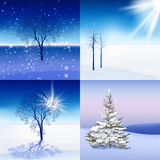Winter Landscape set Royalty Free Stock Photo