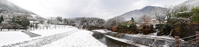 Winter landscape, Shirakawago Stock Image