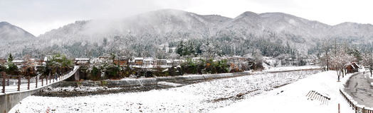 Winter landscape, Shirakawago. The winter landscape at Shirakawago, Japan Royalty Free Stock Photography