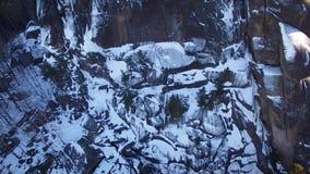 Winter landscape in Siberia,  rock stock video footage