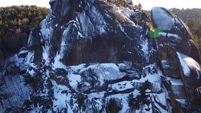Winter landscape in Siberia,  rock stock video
