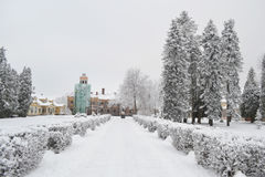 Winter landscape in Sigulda. Royalty Free Stock Image