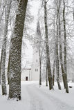 Winter landscape in Sigulda. Royalty Free Stock Photos