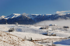 Winter landscape in Sirnea village, Romania. Winter landscape in Sirnea village, Brasov Romania Stock Images