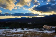 Winter landscape in the ski resort of Špičák, Železná Ruda, Czech Republic. A Picture of the Winter landscape in the ski resort of Špičák, Žezná Ruda Stock Images