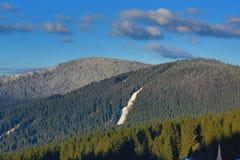 Winter landscape in the ski resort of Špičák, Železná Ruda, Czech Republic. A Picture of the Winter landscape in the ski resort of Špičák, Žezná Ruda Royalty Free Stock Images
