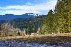 Winter landscape in the ski resort of Železná Ruda, Czech Republic. A Picture of the Winter landscape in the ski resort of Žezná Ruda, Czech Republic Stock Photography