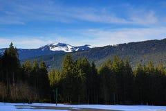 Winter landscape in the ski resort of Železná Ruda, Czech Republic. A Picture of the Winter landscape in the ski resort of Žezná Ruda, Czech Republic Royalty Free Stock Photo
