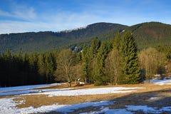 Winter landscape in the ski resort of Železná Ruda, Czech Republic. A Picture of the Winter landscape in the ski resort of Žezná Ruda, Czech Republic Royalty Free Stock Image