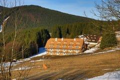 Winter landscape in the ski resort of Železná Ruda, Czech Republic. A Picture of the Winter landscape in the ski resort of Žezná Ruda, Czech Republic Royalty Free Stock Photos