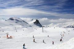 Winter landscape in the ski resort of La Plagne, France Royalty Free Stock Image