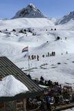 Winter landscape in the ski resort of La Plagne, France Stock Photo