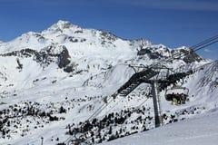 Winter landscape in the ski resort of La Plagne, France Royalty Free Stock Photo