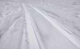 Winter landscape. Ski run close up.  stock photos