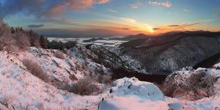 Winter landscape in Slovakia Stock Image