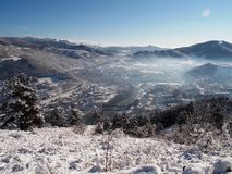 Winter. Landscape of a small town in winter Royalty Free Stock Photo