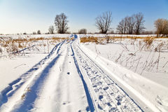 Winter landscape with snow Royalty Free Stock Images