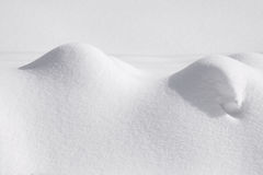 Winter Landscape with snow banks. Monochrome, horizontall shoot Royalty Free Stock Photos